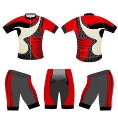 Cycling vest red style vector