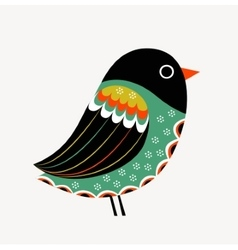 Decoration with colorful bird vector image