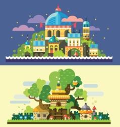 Fantastic landscape vector image vector image