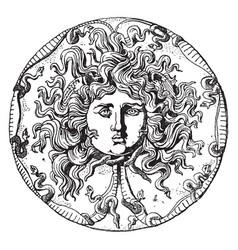 Farnese medusa head dish is an onyx patera or vector