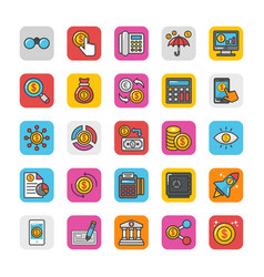 finance icons 2 vector image