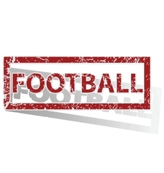 Football outlined stamp vector
