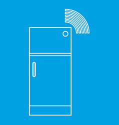 Fridge icon outline style vector