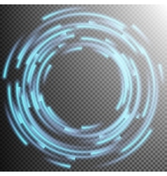 Glowing blue rings trace eps 10 vector