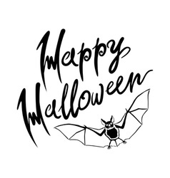 Happy Halloween bat message design background EPS vector image