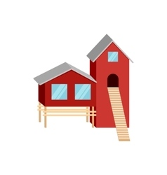 House of forester icon cartoon style vector image vector image
