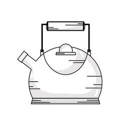 Line classical and elegant teapot ktchen utensil vector