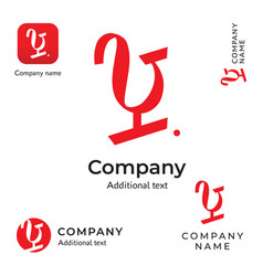 modern typographic wine logo identity brand and vector image