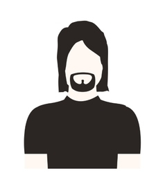 Monochrome half body man with beard without face vector