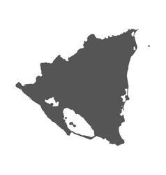 Nicaragua map black icon on white background vector