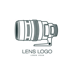 Photo camera lens icon isolated vector