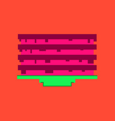 pixel icon in flat style pancake with jam vector image