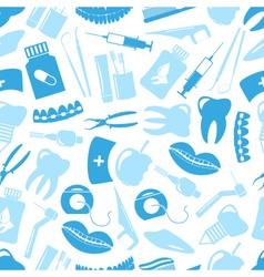Set of blue dental theme icons blue seamless vector