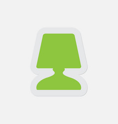 simple green icon - bedside table lamp vector image vector image