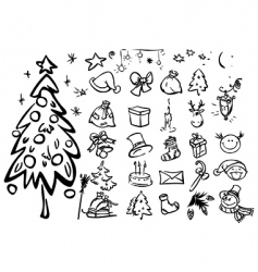 sketches for xmas vector image vector image