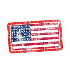 Usa flag red grunge rubber stamp vector