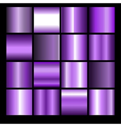 Violet gradient backgrounds vector