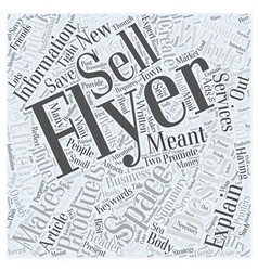 What makes an effective flyer word cloud concept vector