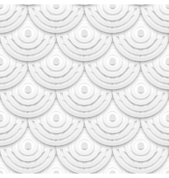White paper circles seamless pattern vector