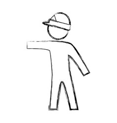 Worker man silhouette vector