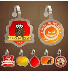 Halloween stikers vector