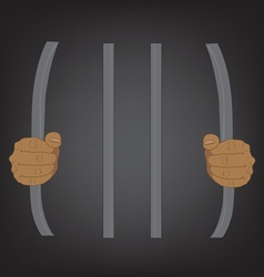 Escape from prison stupid concept vector