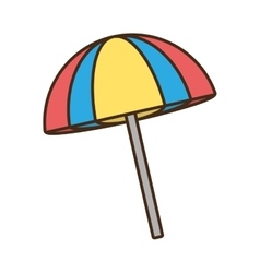 Umbrella sun beach relaxing vector