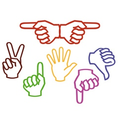 multicolored hands vector image
