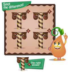 Spot the difference letters t vector