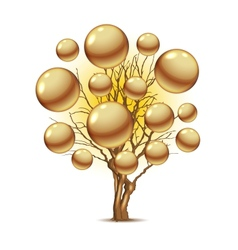 Pearl tree for your design vector