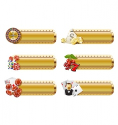 Casino banners vector