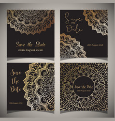 luxury save the date designs vector image