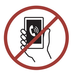 Sign of do not phone vector