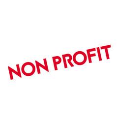 Non profit rubber stamp vector