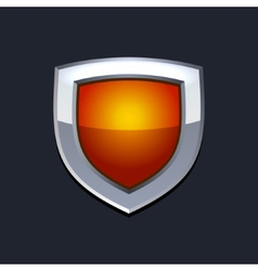 Red protect shield icon vector