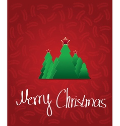 Christmas tree with star - greeting card vector