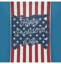 Happy presidents day usa national flag banner vector