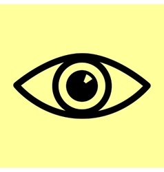Eye sign flat style icon vector