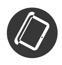 Laptop object icon vector