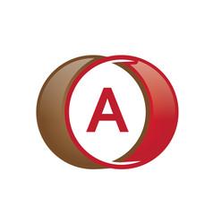 a letter circle logo vector image vector image