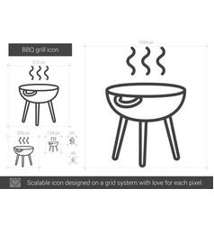 Bbq grill line icon vector