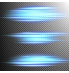 Blue lights lines effect Lens EPS 10 vector image vector image