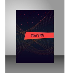 Cover template for book report or brochure vector