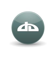 DeviantART icon simple style vector image vector image