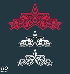 Eps8union symbol festive design element with stars vector