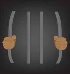Escape from prison stupid concept vector