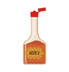 Full color bottle with honey vector