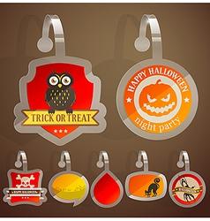 Halloween stikers vector