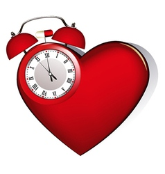 Heart alarm vector image vector image