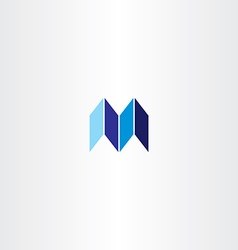 Letter m logotype logo m blue icon sign vector